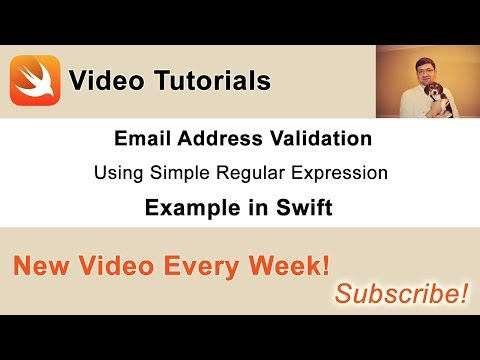 Email Address Validation with Simple Regular Expression in Swift