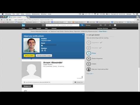 LinkedIn Tutorial 2014 - Creating a Profile