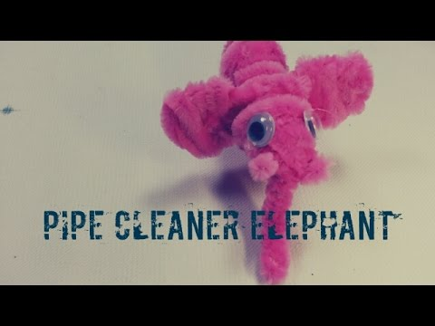 Pipe Cleaner Crafts - Elephant