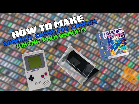 How To Make Gameboy Cassette Covers Using Photoshop