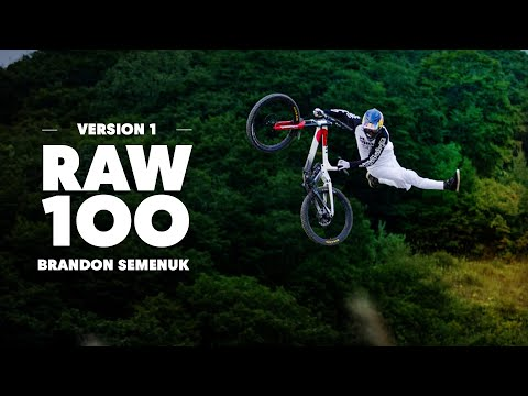 Brandon Semenuk Hits a Flowy Slopestyle Trail in the Woods | Raw 100