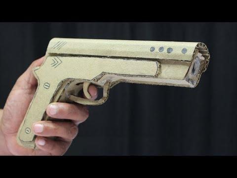 How to Make An Awesome Gun With Cardboard ! DIY Cardboard GUN
