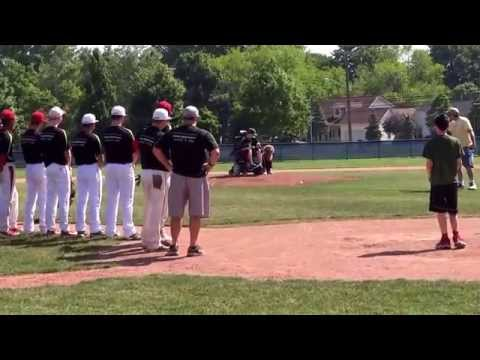 Grindstone Charity Classic - Jack & His Service Dog Tommy Throw First Pitch - 3/31/14