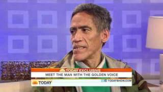 """Today Show Homeless man with golden voice """"thankful to be here"""""""