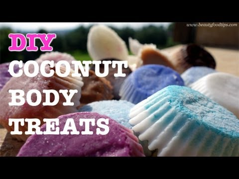 DIY coconut solid lotion bars & homemade chocolate body scrub
