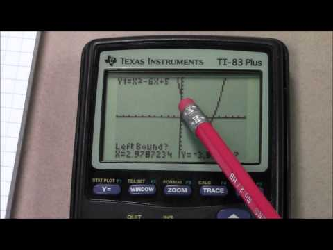 Quadratic Equations using a TI 83 Plus Graphing Calculator