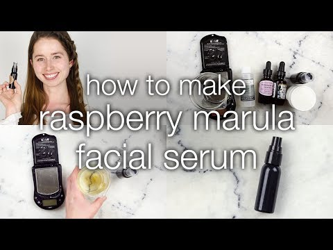 How to Make Raspberry Marula Facial Serum