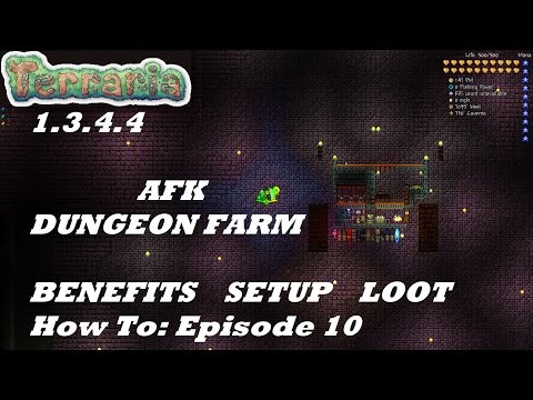 Terraria 1.3.4.4 HOW TO | Build an AFK Dungeon Farm | Expert | Tips, Setup, Loot | Episode 10