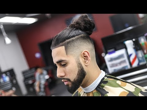 BARBER TUTORIAL: HOW TO FADE A UNDERCUT | MAN BUN STEP BY STEP INSTRUCTIONS