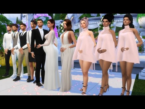 WEDDING CEREMONY OF A PREGNANT SIM l SIMS 4