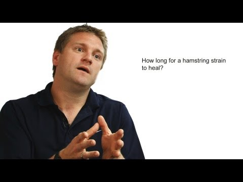 How long for a hamstring strain to heal?