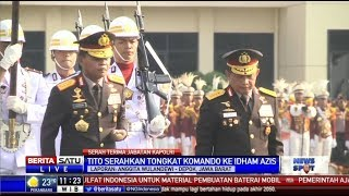 Tito Karnavian Serahkan Tongkat Komando Kapolri ke Idham Azis
