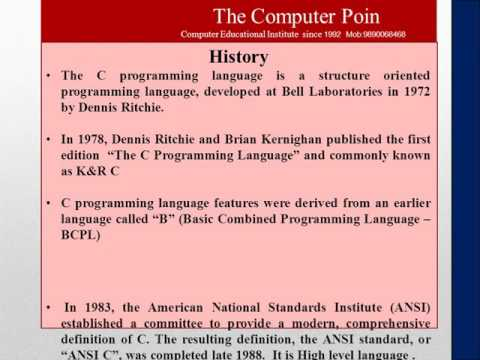 c programming introduction lesson1 theory by vikrant manore in marathi