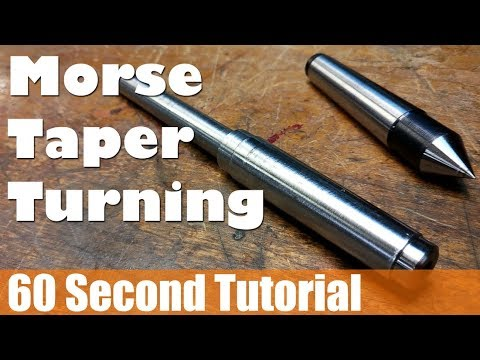 60s Tutorial - Easiest Angle Setup Ever? Turning an MT2 Morse Taper on Mini Lathe, No Measuring