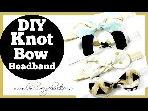 Fabric Bow Knot Headband Tutorial - Hairbow Supplies, Etc.