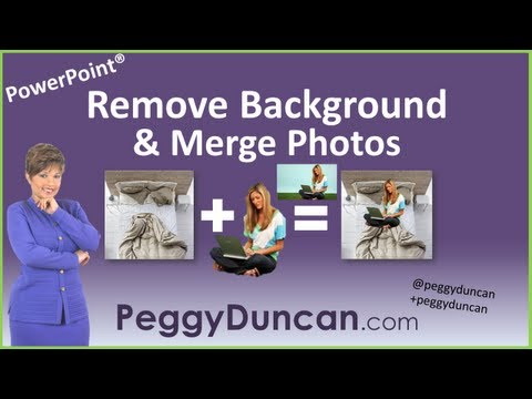 How to Remove Background in Picture in PowerPoint 2010 and Merge With Another Photo (with video)