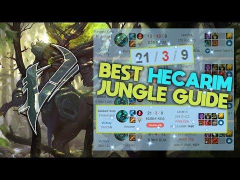 Vesuvia - BEST HECARIM JUNGLE GUIDE SEASON 8   Learn how to Jungle!