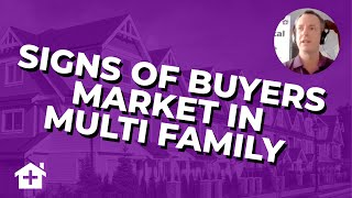 BREAKING NEWS: Very Early Signs of Buyers Market Behavior Forming in Multi Family