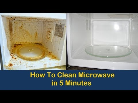 How to Clean Microwave in 5 Minutes- Cleaning tips, Life Hacks, Home Remedies