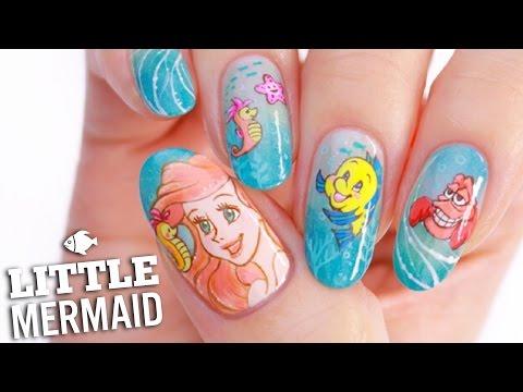 Disney's Little Mermaid Nail Art Tutorial