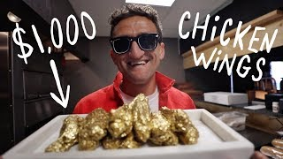 I ate $1000 GOLD CHICKEN WINGS!