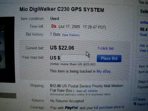 winning bid on ebay