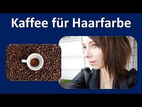 Sterben die Haare mit Kaffee und Conditioner & spülen