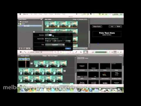 How To Work With iMovie Titles And Transitions