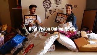 Zain Imam birthday with Aditi Rathore  Adiza gifts segement 2 part 2 with Real Vision Online News