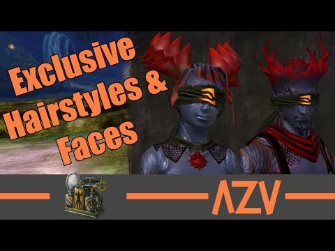 GW2: 🔥 All exclusive Sylvari hairstyles and faces 🔥