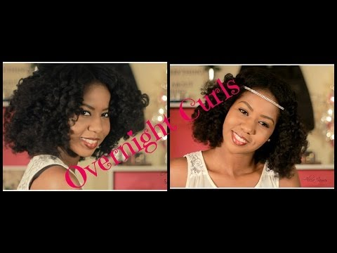 Beautiful Overnight Curls On Natural Hair ❋Holiday Hair ❋