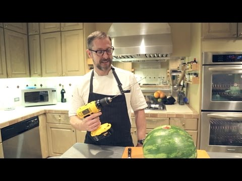 How To Make A Watermelon Smoothie With A Power Drill