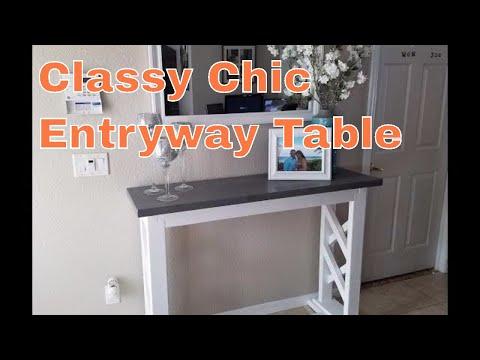 Build a rustic farmhouse entryway table / sofa table / console table