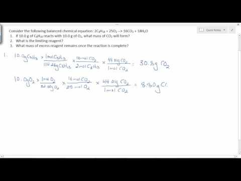 Calculating Limiting and Excess Reagents