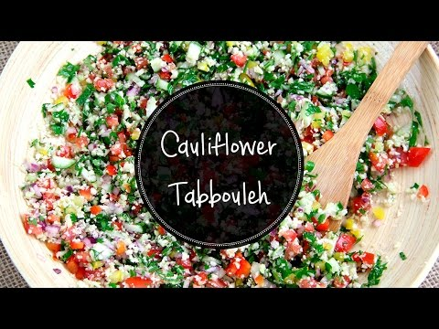 CAULIFLOWER TABBOULEH -- Raw, lowcarb, paleo and very easy