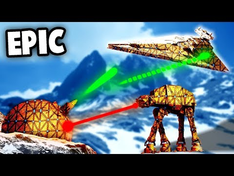 The BEST NEW MAP in FORTS!  (Forts Gameplay - Star Wars Battle of Hoth)