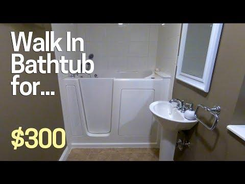 DIY $10,000 Walk In Bathtub for $300? Install Yourself Video