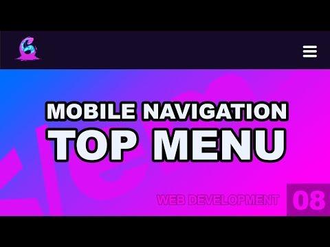 Web Development: 08 - Responsive Top Menu Navigation HTML/CSS