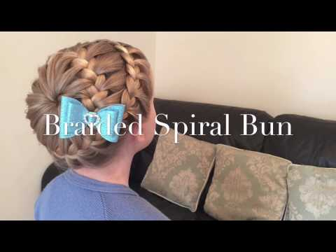 The Braided Spiral Bun hair tutorial by Two Little Girls Hairstyles