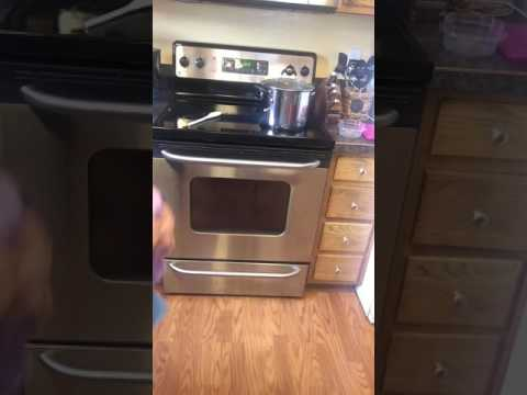 Cleaning stainless steel appliances with only water!
