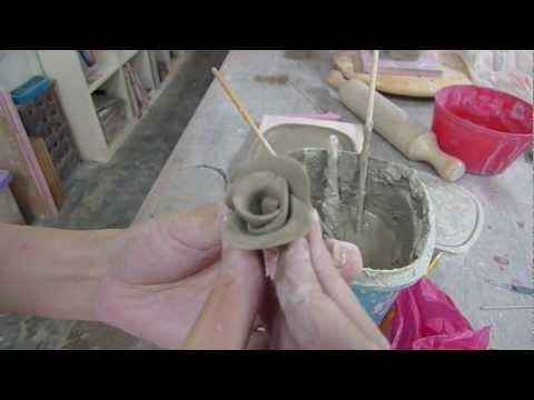 Making clay roses - Clay Craft Malaysia