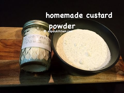 how to make custard powder | homemade custard powder recipe | homemade vanilla custard powde