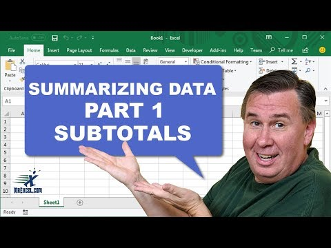 Learn Excel - Subtotals - Podcast 2187