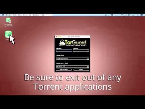 How to setup a TorGuard Torrent Proxy on Mac OSX