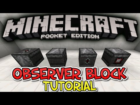 How To Use The Observer Block - MCPE Redstone Tutorial