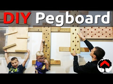 How to build an adjustable climbing peg board and cliffhanger or campus board - French cleat - DIY