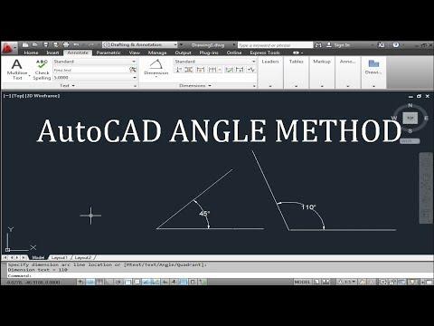 AutoCAD angle method-make a line with an angle