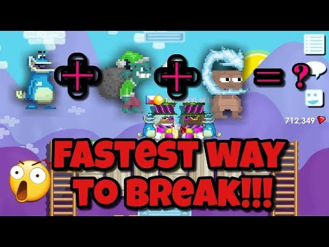 FASTEST WAY TO BREAK ! ( NEW GLITCH !? ) | Growtopia