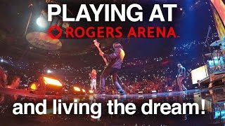 Gig Vlog - NEVER GIVE UP ON YOUR DREAMS - PLAYING AT ROGERS ARENA