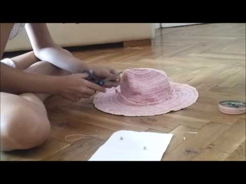 Easy homemade decoration for a hat :)